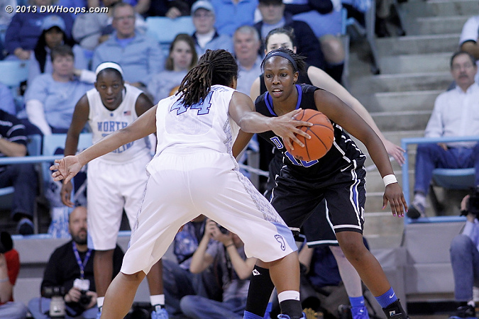 ACCWBBDigest Photo  - Duke Tags: #12 Chelsea Gray - UNC Players: #44 Tierra Ruffin-Pratt