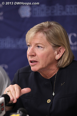 Coach Hatchell said that while her current team doesn't match up to Duke in the three point shooting department that help was on the way next season.  - UNC Players: Head Coach Sylvia Hatchell