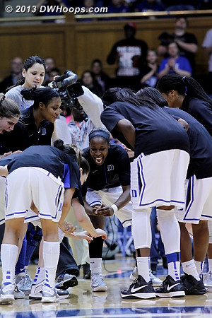 Chelsea Gray fired up in Duke's pregame huddle  - Duke Tags: #12 Chelsea Gray