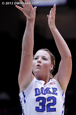 Liston on the line, putting Duke up 22-12  - Duke Tags: #32 Tricia Liston
