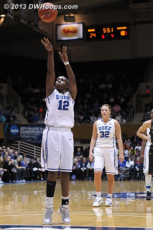 Chelsea was 13-14 from the stripe tonight  - Duke Tags: #12 Chelsea Gray