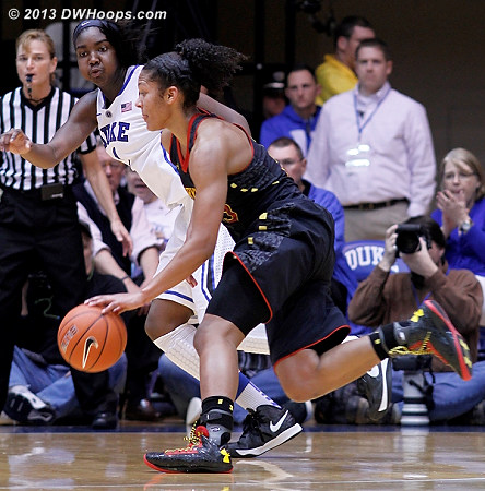 ACCWBBDigest Photo  - Duke Tags: #1 Elizabeth Williams  - MD Players: #25 Alyssa Thomas