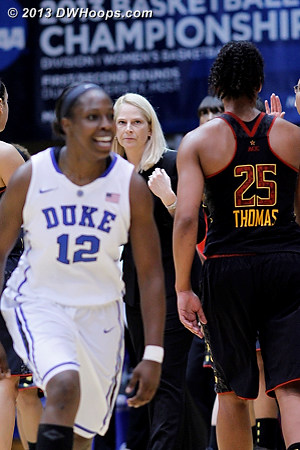Time out Maryland  - Duke Tags: #12 Chelsea Gray - MD Players: Head Coach Brenda Frese