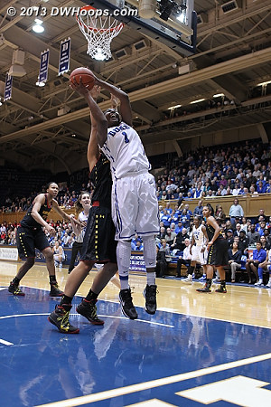 Williams puts Duke up 51-44  - Duke Tags: #1 Elizabeth Williams