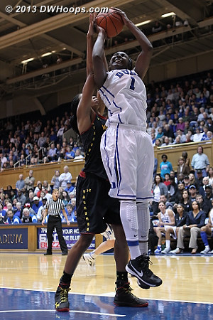 Williams scores, 57-50 Duke  - Duke Tags: #1 Elizabeth Williams