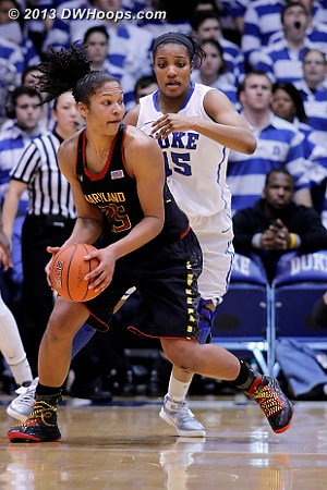 ACCWBBDigest Photo  - Duke Tags: #15 Richa Jackson - MD Players: #25 Alyssa Thomas