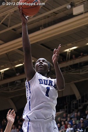Williams puts Duke up 17 with under a minute left  - Duke Tags: #1 Elizabeth Williams