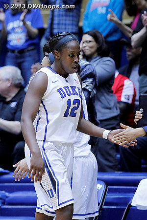 Chelsea Gray heads to the Duke bench with a career high 28