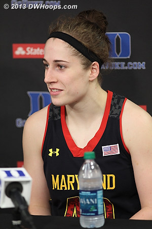 Katie Rutan in the media room: