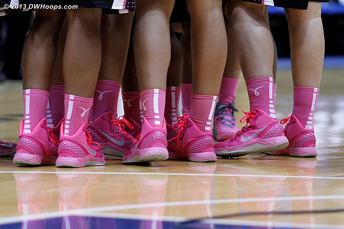 Wake Forest looked great in their Nike Kay Yow shoes and socks for the Play4Kay initiative.