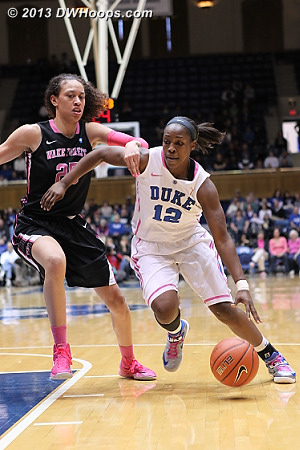 Hand of friendship  - Duke Tags: #12 Chelsea Gray - WAKE Players: #25 Dearica Hamby