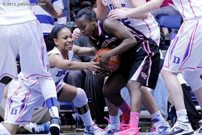 Key sequence: Wells tries to tie up Douglas  - WAKE Players: #5 Chelsea Douglas