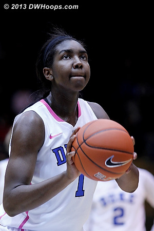 Garcia fouled Williams, who made both for a 69-67 Duke lead  - Duke Tags: #1 Elizabeth Williams