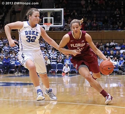 DWHoops Photo  - Duke Tags: #32 Tricia Liston - FSU Players: #3 Alexa Deluzio