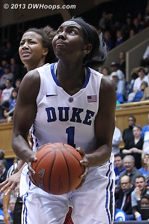 Liz makes it 52-32 Duke
