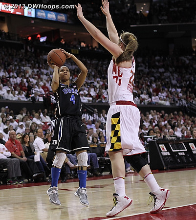DWHoops Photo  - Duke Tags: #4 Chloe Wells - MD Players: #22 Tierney Pfirman