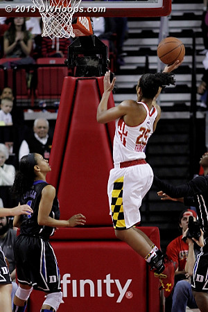 Summing up Maryland's afternoon, Alyssa Thomas blew this wide open layup.  - MD Players: #25 Alyssa Thomas