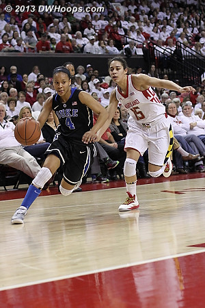 Duke's quickness when the floor was spread simply overwhelmed Maryland's abbreviated lineup.  - Duke Tags: #4 Chloe Wells - MD Players: #15 Chloe Pavlech