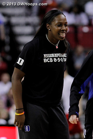 Chelsea Gray was active and up on the bench throughout, to the chagrin of the Maryland faithful  - Duke Tags: #12 Chelsea Gray