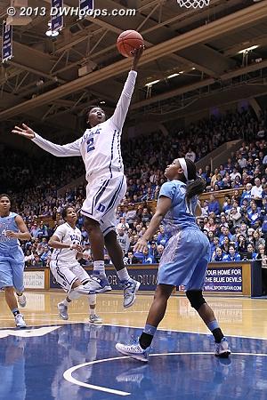 Jones goes coast-to-coast, Duke double digit lead, time out Heels.
