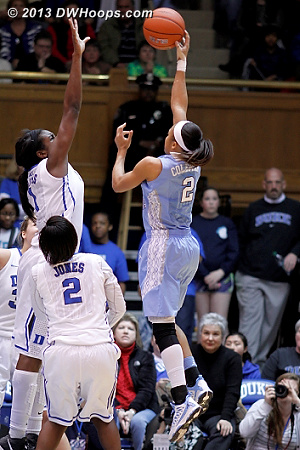 Rejection by Williams, the ACC Women's Basketball Digest Defensive Player of the Year