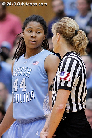 Ruffin-Pratt gives Dee her side of the story as Duke leads by double digits in the final minute  - UNC Players: #44 Tierra Ruffin-Pratt