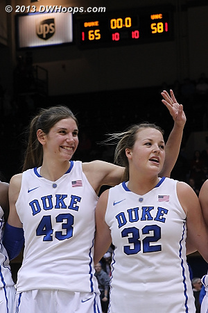 DWHoops Photo  - Duke Tags: #32 Tricia Liston, #43 Allison Vernerey