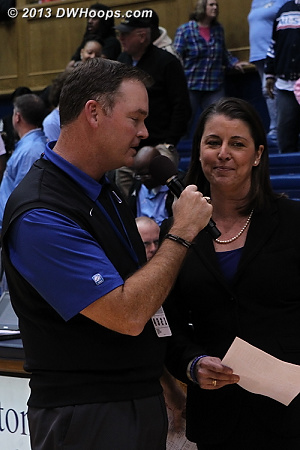 Coach P postgame interview for radio  - Duke Tags: Joanne P. McCallie