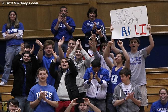 Alli's adoring fans