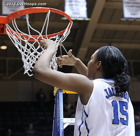 Richa cuts the net  - Duke Tags: #15 Richa Jackson