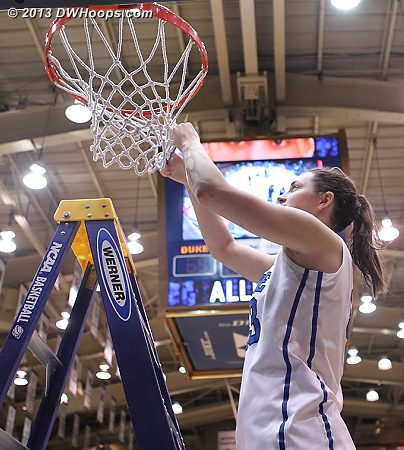 Haley cuts the net  - Duke Tags: #33 Haley Peters