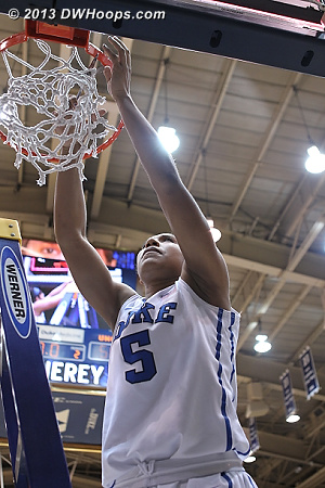 Sierra cuts the net  - Duke Tags: #5 Sierra Moore