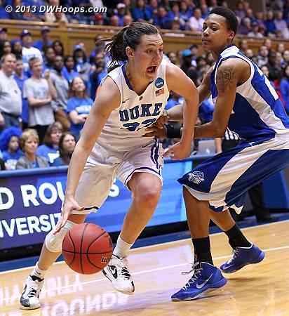 Haley Peters drives on Nicole Hamilton  - HAMP Players: #2 Nicole Hamilton