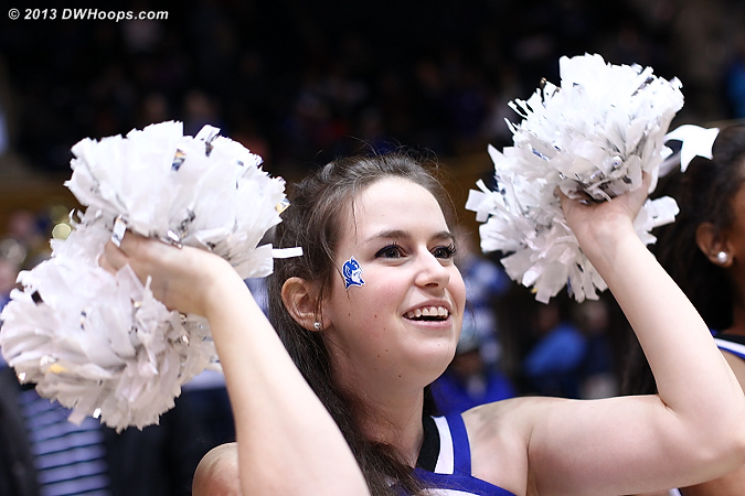 Duke takes home a 67-51 win, and will play Oklahoma State on Tuesday night  - Duke Tags: Duke Cheerleaders