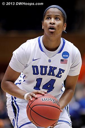 Johnson made 1 of 2 FT's, 49-45 OSU  - Duke Tags: #14 Ka'lia Johnson