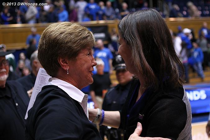 Debbie Leonard and Coach P  - Duke Tags: Joanne P. McCallie