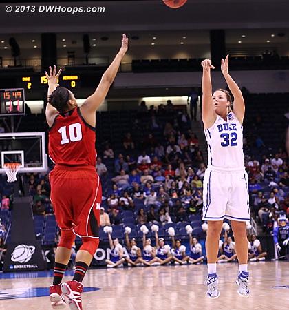 Liston hits her first three, 5-0 Duke.  - Duke Tags: #32 Tricia Liston