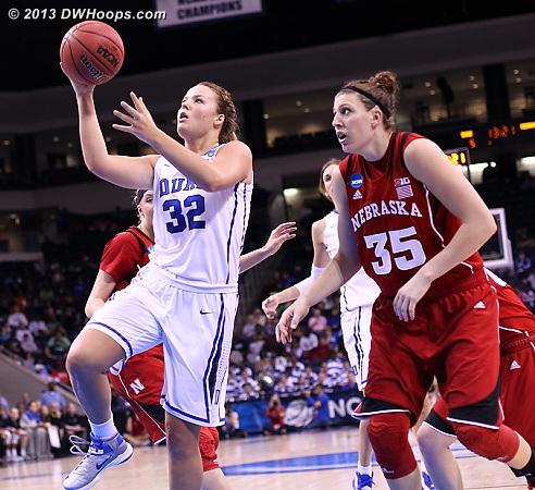 Liston makes it a 7-7 tie  - Duke Tags: #32 Tricia Liston - NEB Players: #35 Jordan Hooper
