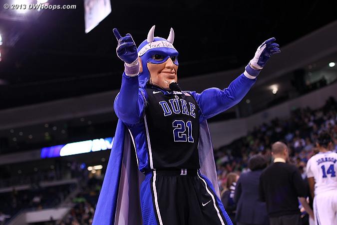 Today's Devil was a tribute to Joy Cheek!  - Duke Tags: Duke Blue Devil Mascot