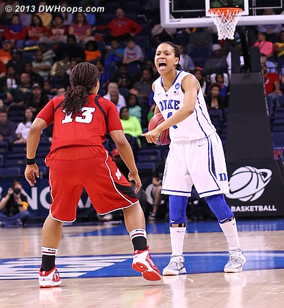 Chloe running the Duke offense  - Duke Tags: #4 Chloe Wells - NEB Players: #13 Brandi Jeffery