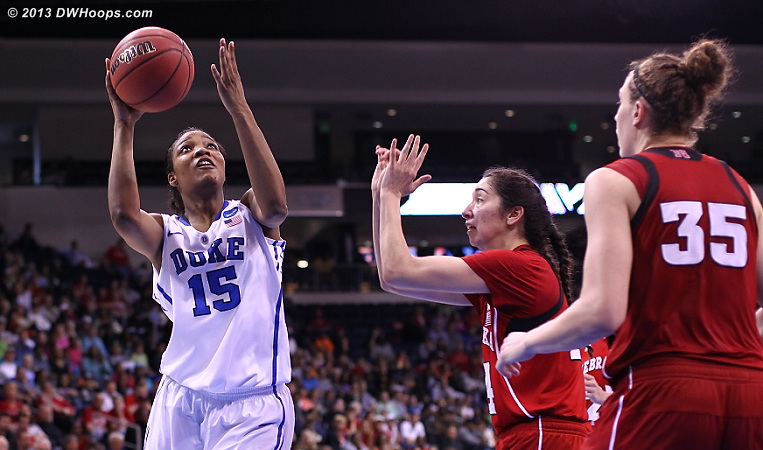 After a boat of misses, Richa hit consecutive layups to maintain Duke's working margin