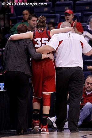 Hooper helped off the floor  - NEB Players: #35 Jordan Hooper