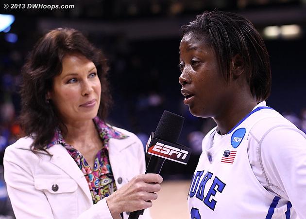 Lex postgame with ESPN's Jeannine Edwards