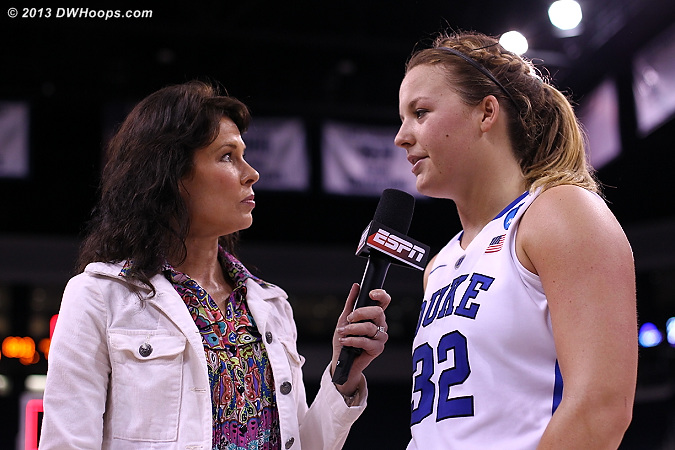 Tricia postgame with ESPN's Jeannine Edwards  - Duke Tags: #32 Tricia Liston