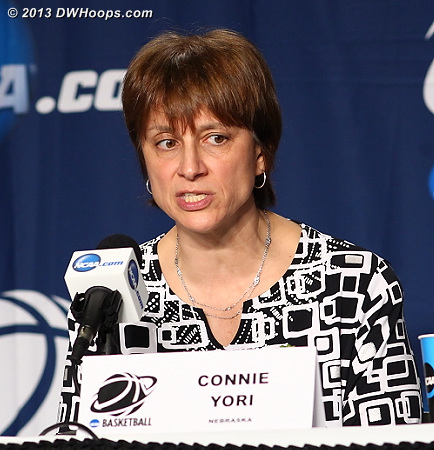 Connie Yori talked about recruiting the right kids - kids that play hard, smart, and together - as the essence of continuity of success  - NEB Players: Head Coach Connie Yori