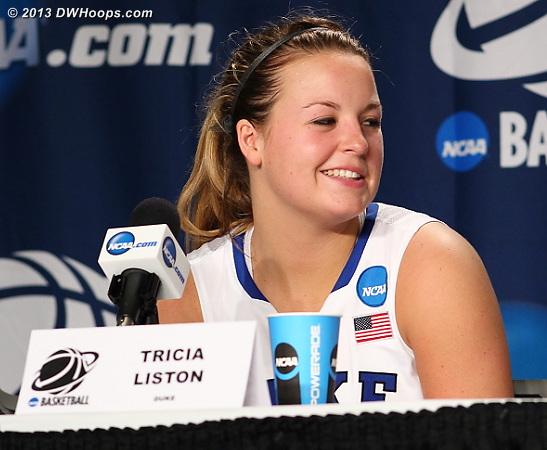 Postgame press conference  - Duke Tags: #32 Tricia Liston