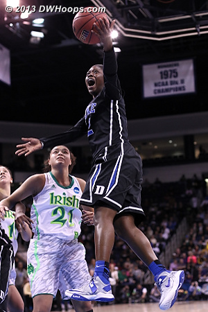 Alexis Jones soars to the basket