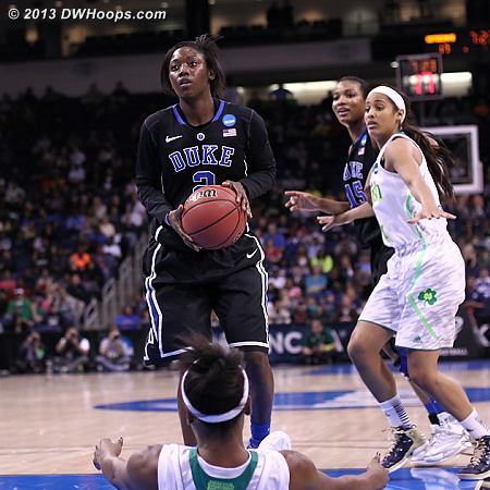 Alexis Jones whistled for the charge, her second foul.  - Duke Tags: #2 Alexis Jones