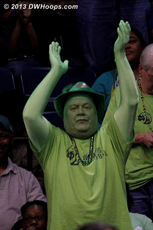 The Green Man  - ND Players:  Notre Dame Fans