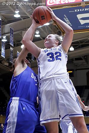 Liston draws a foul  - Duke Tags: #32 Tricia Liston